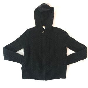 J. Crew Sweater Full Zip Cable Knit 100% Lambswool